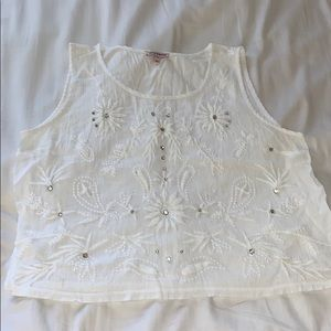 White juicy couture top